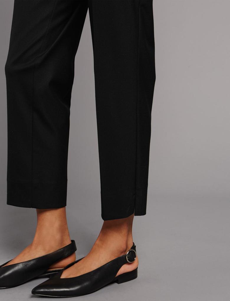 Yün Karışımlı Slim Pantolon