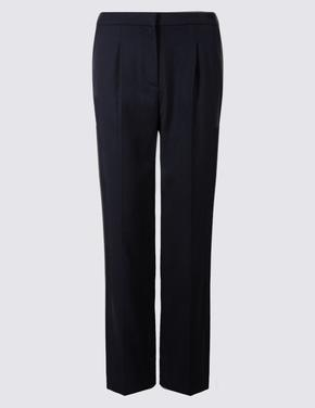 Elastik Straight Pantolon