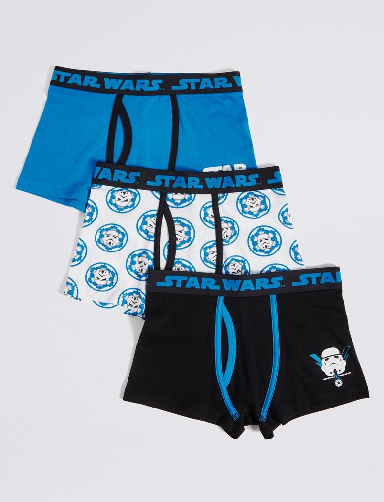 3'lü Star Wars™ Desenli Streç Külot (2 - 16 Yaş)