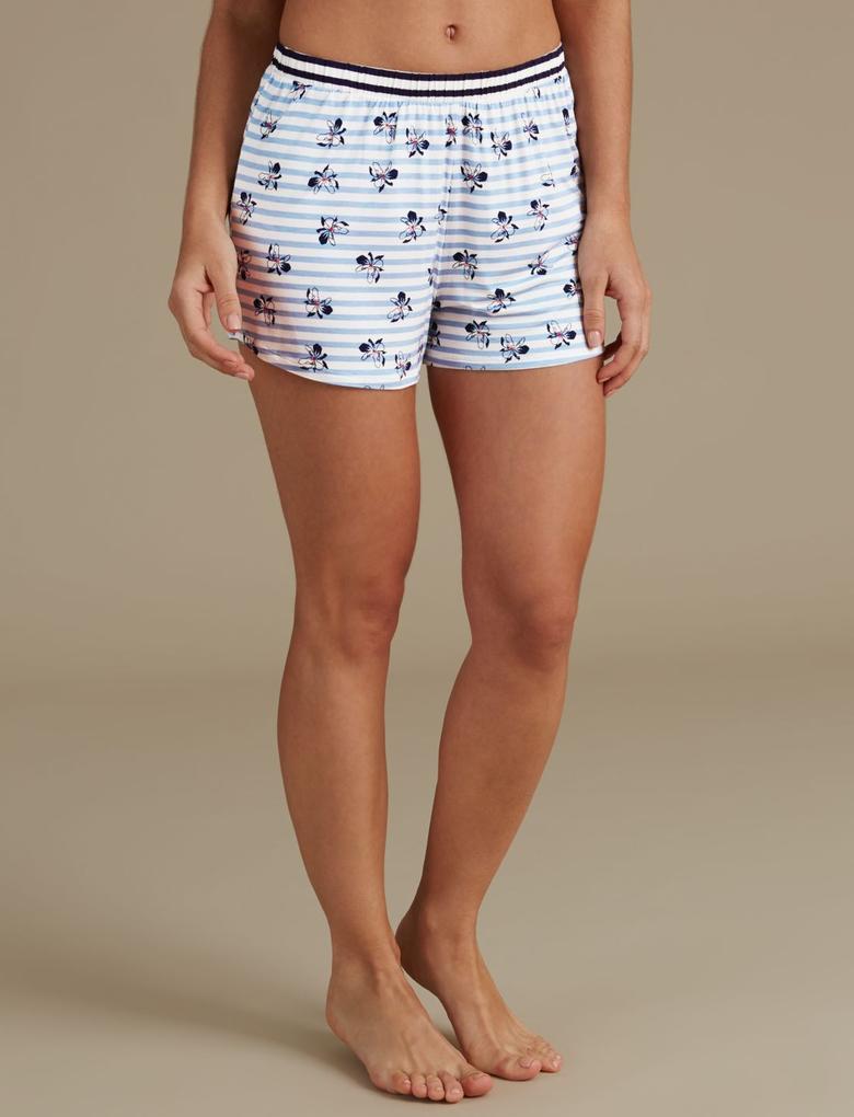Çizgili Kısa Pijama Altı