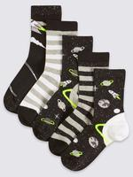 Siyah 5'li Pamuklu Freshfeet™ Çorap
