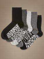 5'li Desenli Çorap