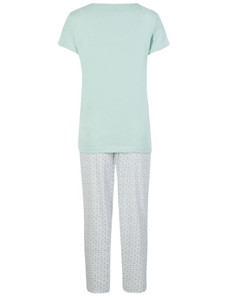 Saf Pamuklu Kısa Kollu Pijama