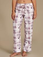 Pamuklu Çiçek Desenli Uzun Pijama Altı