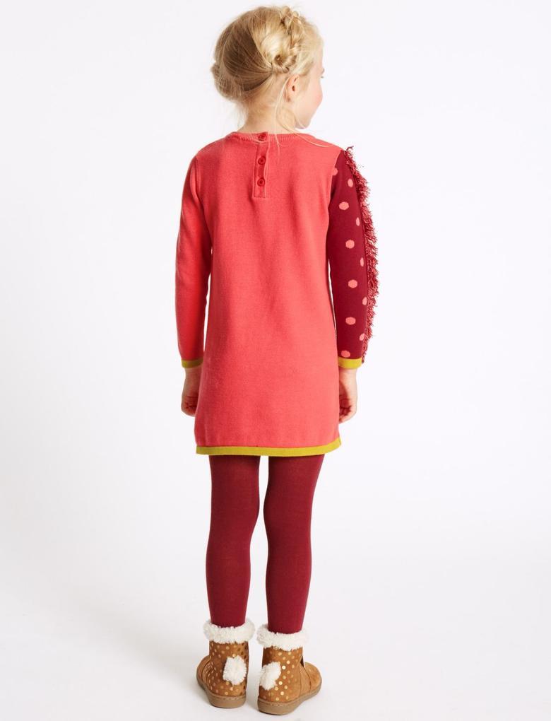 2 Parça Pamuklu Elbise ve Külotlu Çorap Takımı (3 Ay - 5 Yaş)