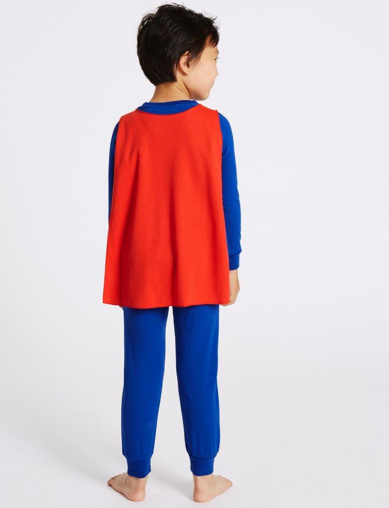 Superman™ Pamuklu ve Streç Pijama Takımı (2 - 10 Yaş)