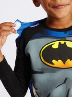 Siyah Batman™ Uzun Kollu Pijama Takımı (2 - 10 Yaş)
