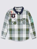 Saf Pamuklu Ekose Gömlek (3 Ay - 5 Yaş)