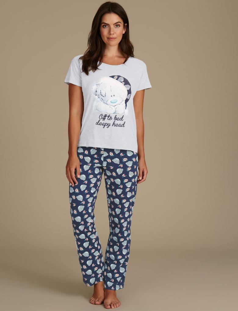 Desenli Kısa Kollu Pijama Takımı