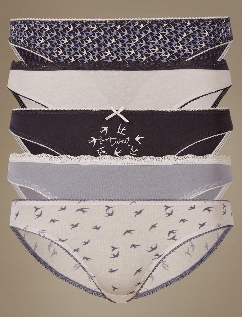 5'li Pamuklu Bikini Külotlar