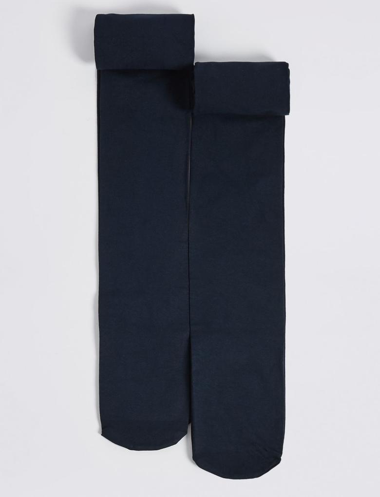 Lacivert 2'li Freshfeet™ Külotlu Çorap (6 - 14 Yaş)