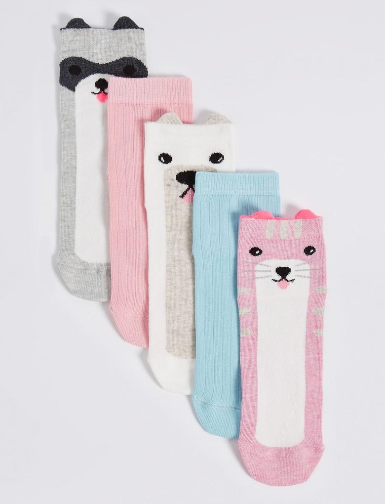 5'li Pamuklu Freshfeet™ Çorap