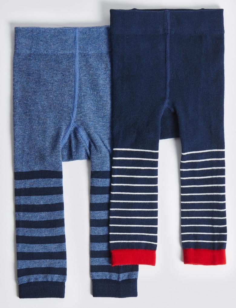 2'li Pamuklu StaySoft™ Külotlu Çorap (0 - 24 Ay)