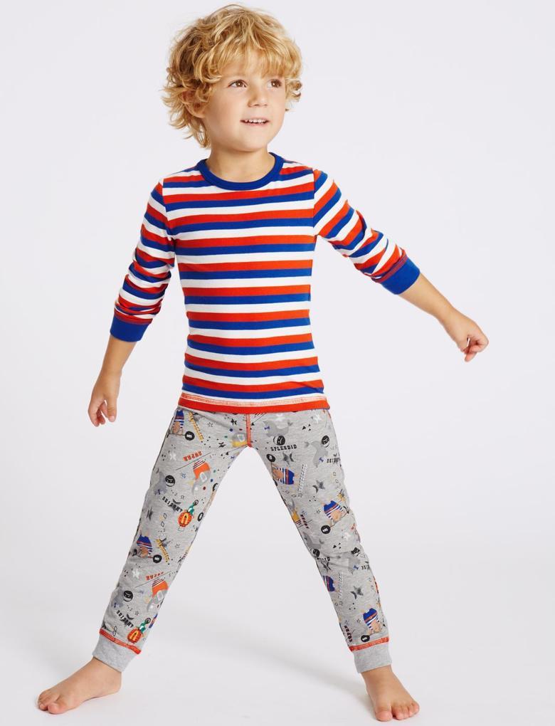 3'lü Desenli Pijama Takımı (9 Ay - 8 Yaş)