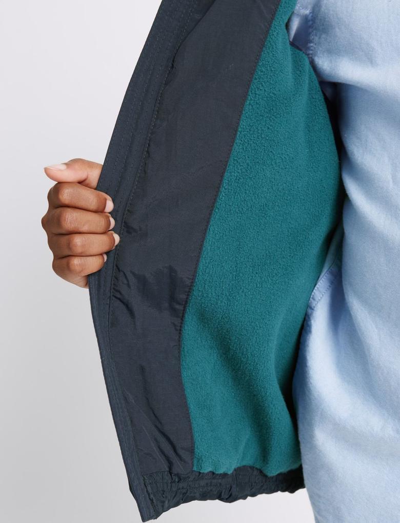 Lacivert Çift Cepli Kapüşonlu Yelek (Stormwear™ Teknolojisi ile) (3 - 14 Yaş)