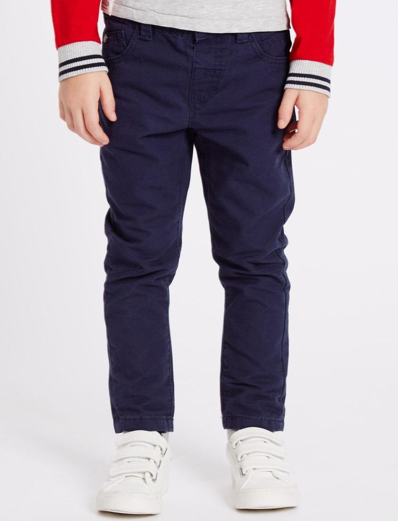 Lacivert Saf Pamuklu Pantolon (3 Ay - 5 Yaş)