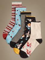 Siyah 5'li Pamuklu Çorap Seti