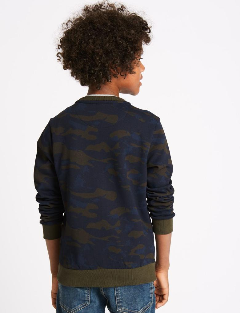 Multi Renk Saf Pamuklu Sweatshirt ( 3- 14 Yaş)
