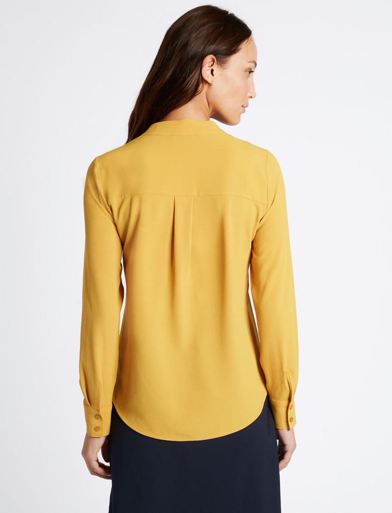 Sarı Uzun Kollu Tunik