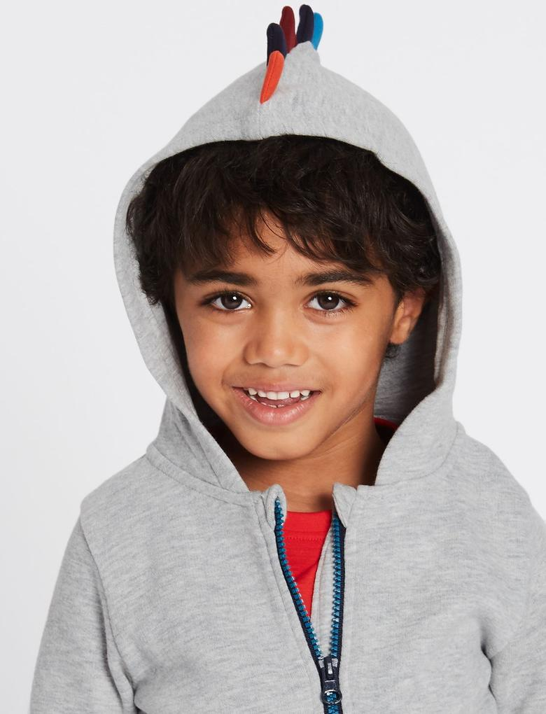 Pamuklu Kapüşonlu Sweatshirt (3 Ay - 5 Yaş)