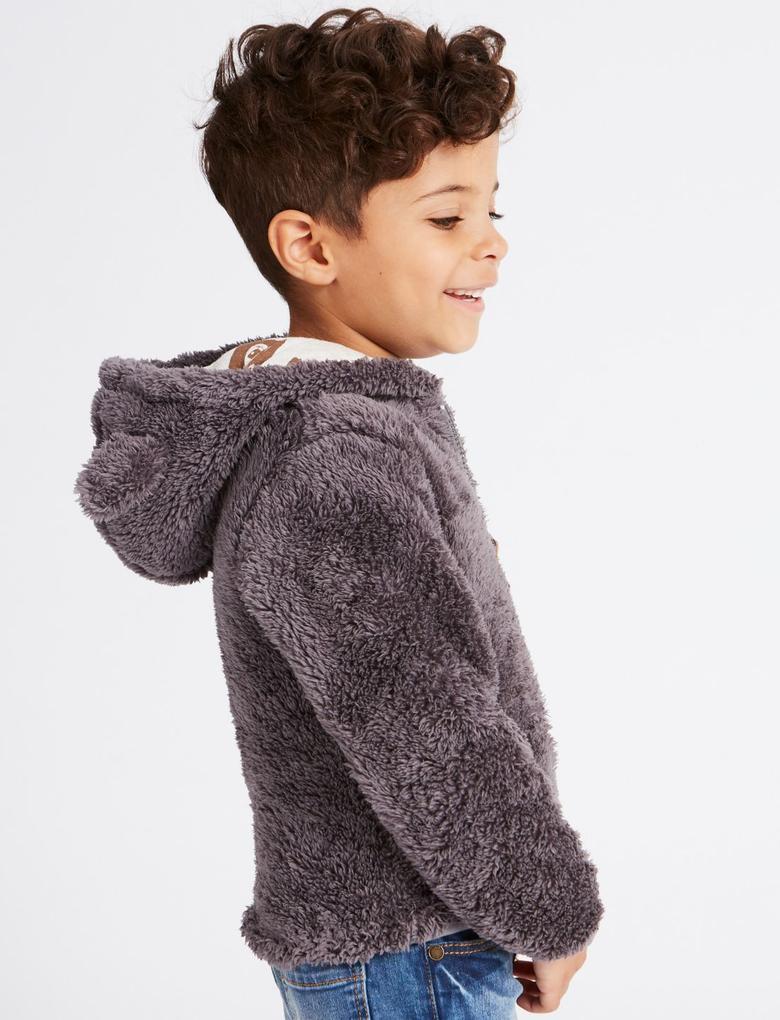 Kapüşonlu Uzun Kollu Sweatshirt (3 Ay - 5 Yaş)