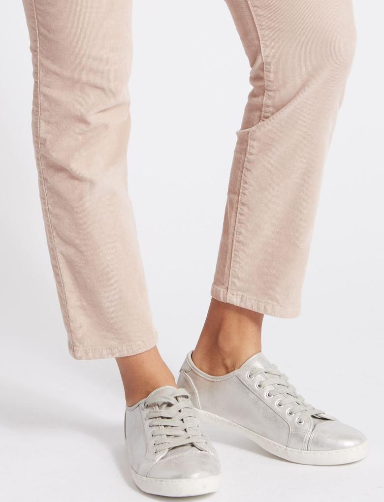 Pamuklu Slim Kadife Pantolon