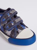 Mavi Cırt Cırtlı Spor Ayakkabı