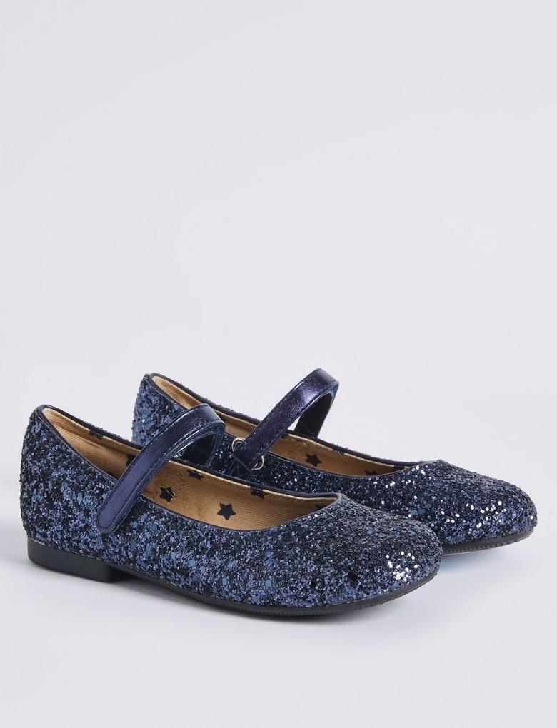 Lacivert Pırıltılı Ayakkabı