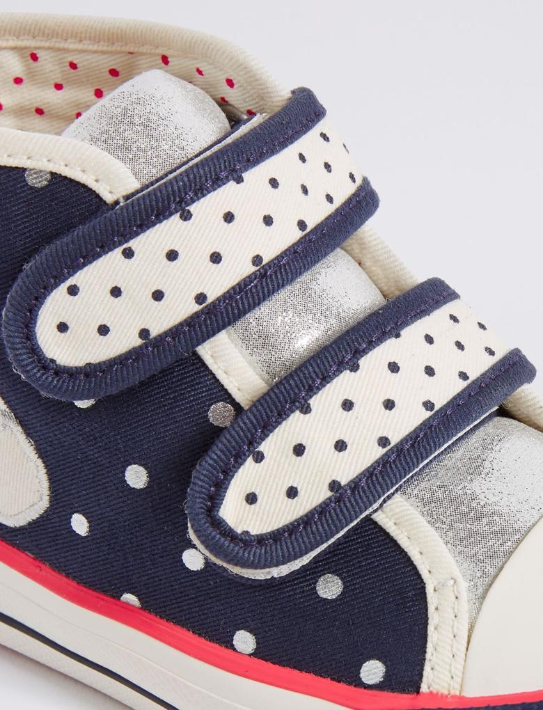 Desenli Cırt Cırtlı Spor Ayakkabı