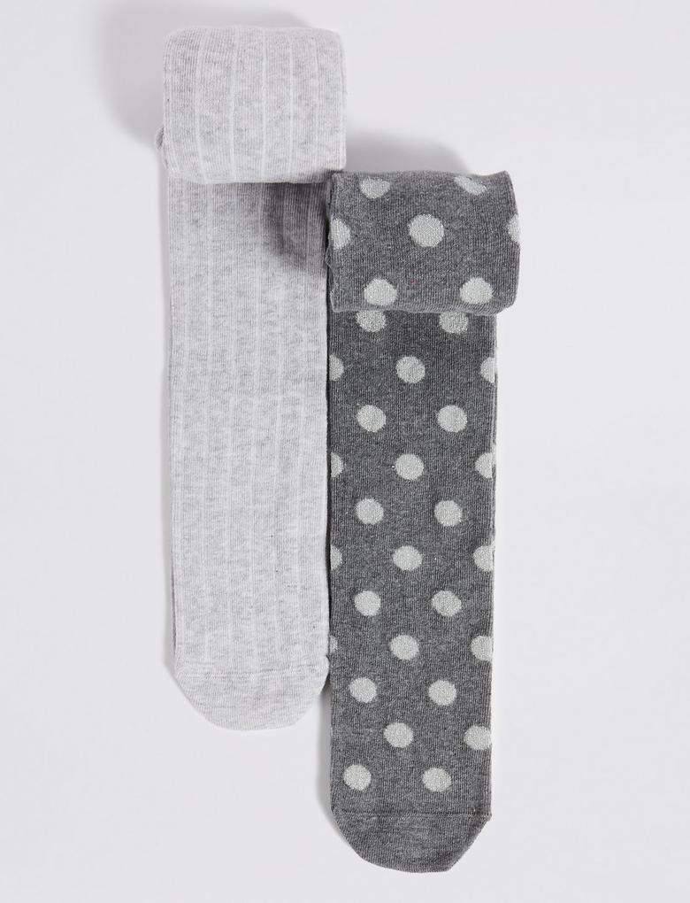 2'li Pamuklu Freshfeet™ Külotlu Çorap (18 Ay - 14 Yaş)