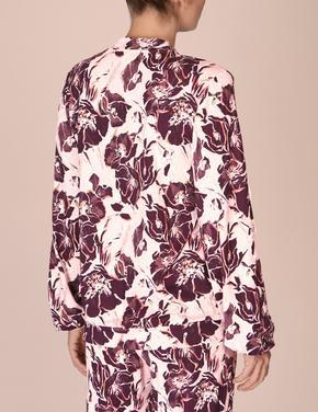Çiçek Desenli Uzun Kollu Pijama Üstü