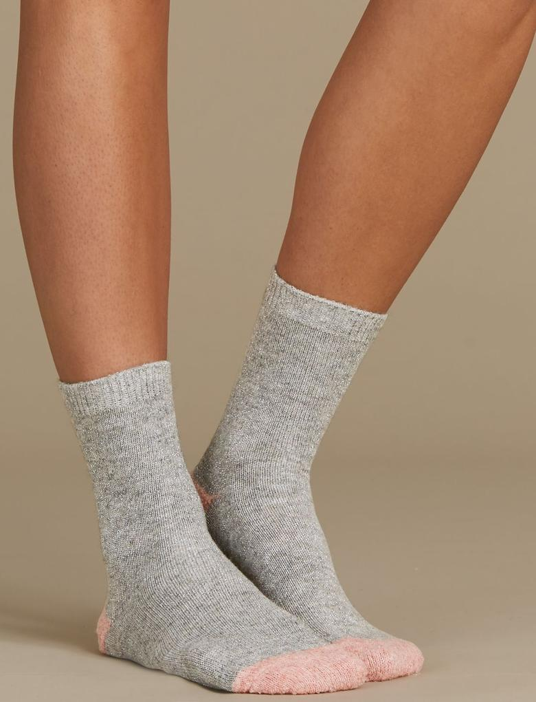 Pembe 2'li Çorap