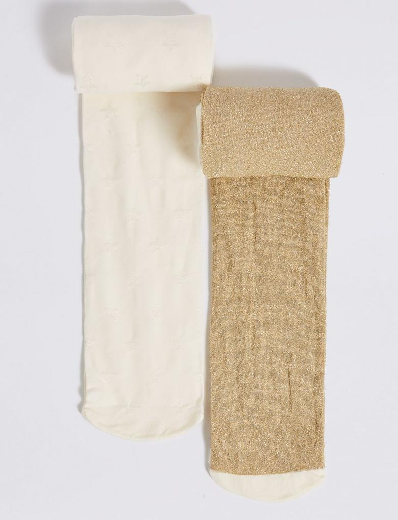 2'li 40 Denye Opak Külotlu Çorap (4 - 12 Yaş)