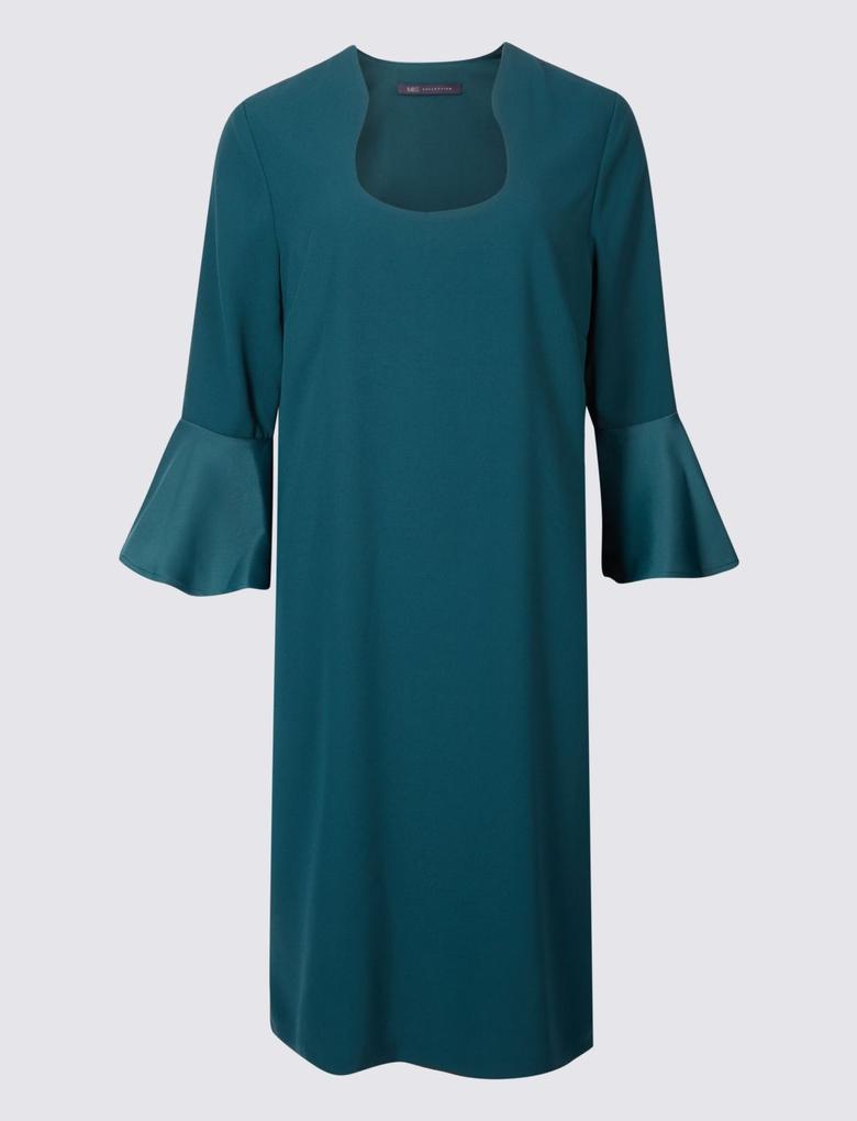Yeşil Uzun Kollu Elbise