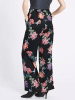 Çiçek Desenli Pantolon