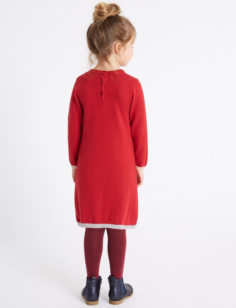 2 Parça Külotlu Çoraplı Örgü Elbise (3 Ay - 6 Yaş)