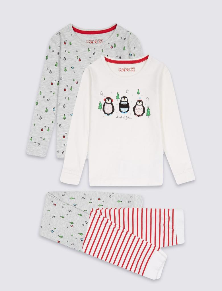 Gri 2'li Pamuklu Pijama Takımı (9 Ay - 5 Yaş)
