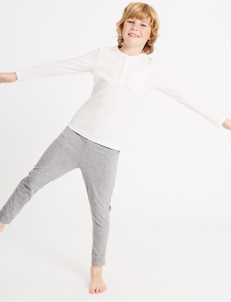 3'lü Uzun Kollu Pijama Takımı (3 - 16 Yaş)
