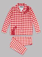 Saf Pamuklu Ekose Pijama Takımı (1 - 16 Yaş)