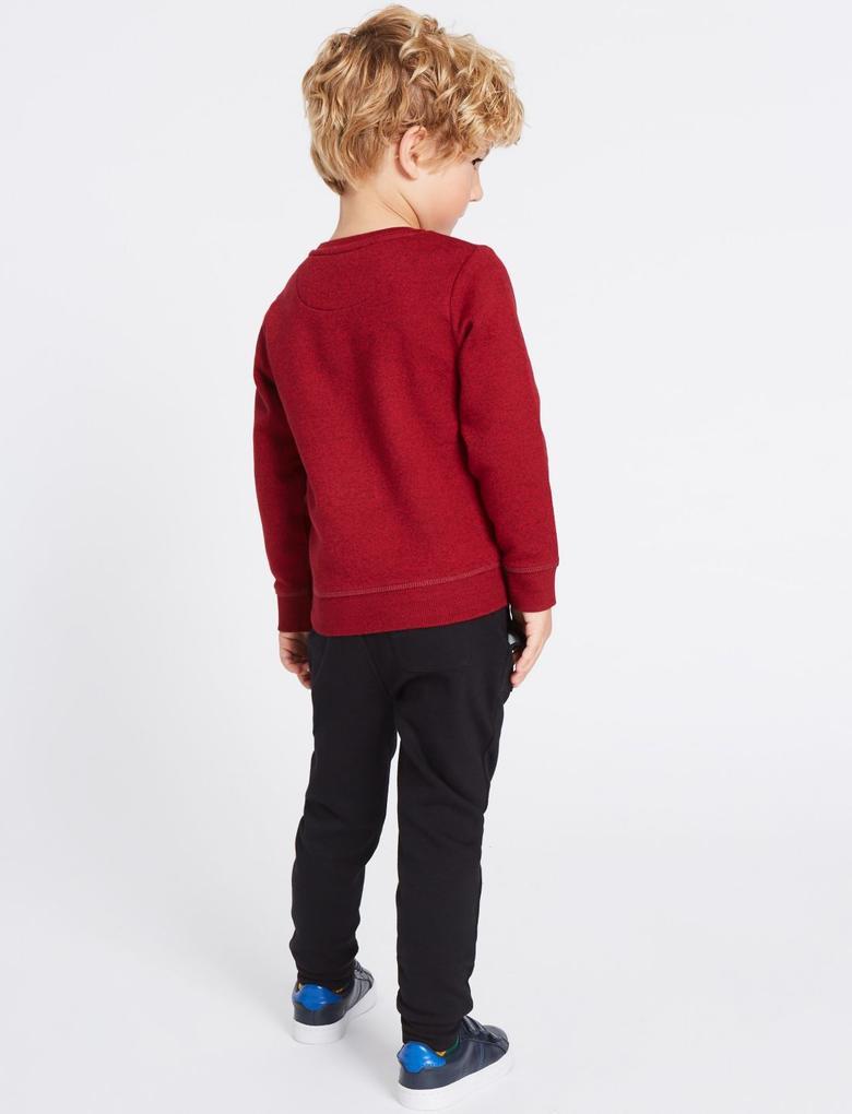 Kırmızı 2 Parça Sweatshirt ve Eşofman Altı Takımı ( 3 Ay - 6 Yaş)