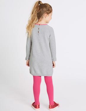 2 Parça Külotlu Çoraplı Elbise Takımı (3 Ay - 6 Yaş)