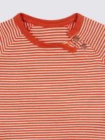3'lü Saf Pamuklu Desenli T-Shirt