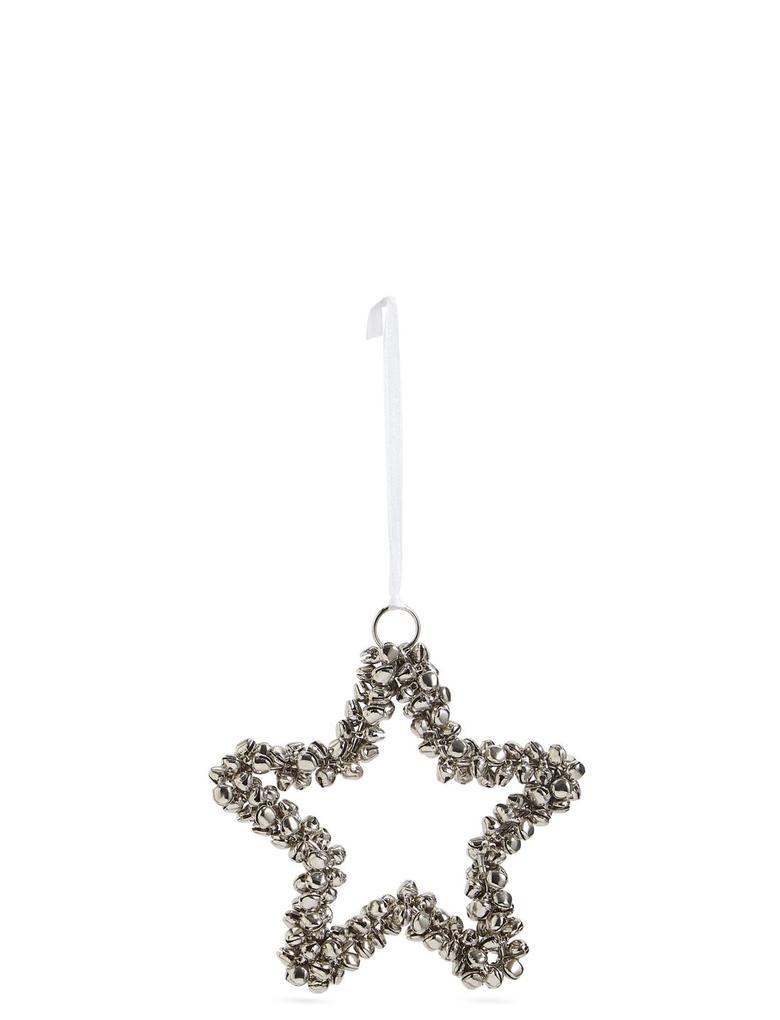Gümüş Zil Kaplı Yıldız Çam Ağacı Süsü