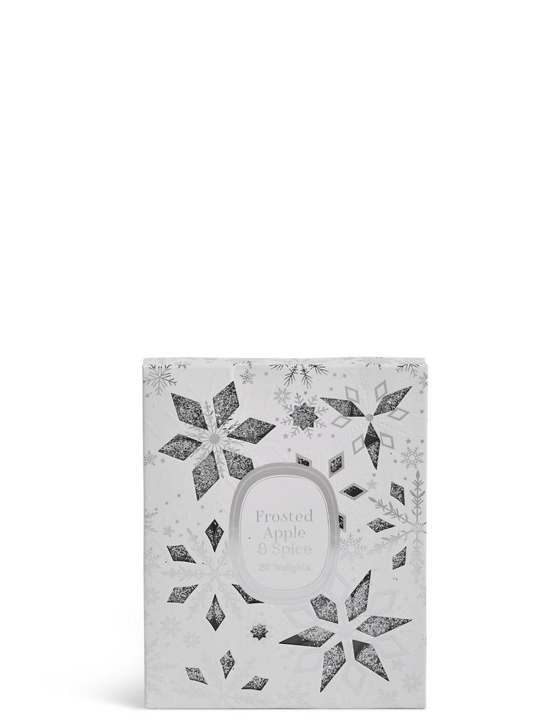 Metalik Orman Elması ve Baharat Kokulu 20'li Tea Light Küçük Mum
