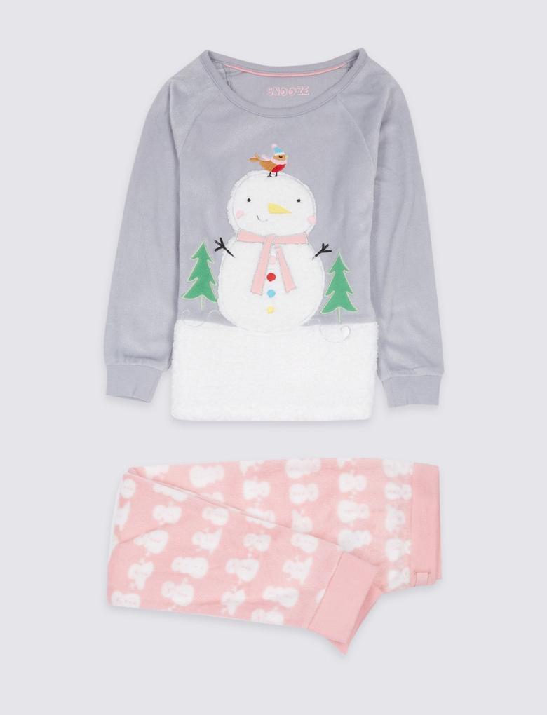 Kardan Adam Desenli Pijama Takımı (9 Ay - 8 Yaş)