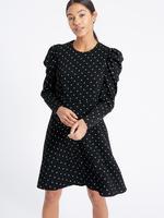 Siyah Puantiye Desenli Elbise