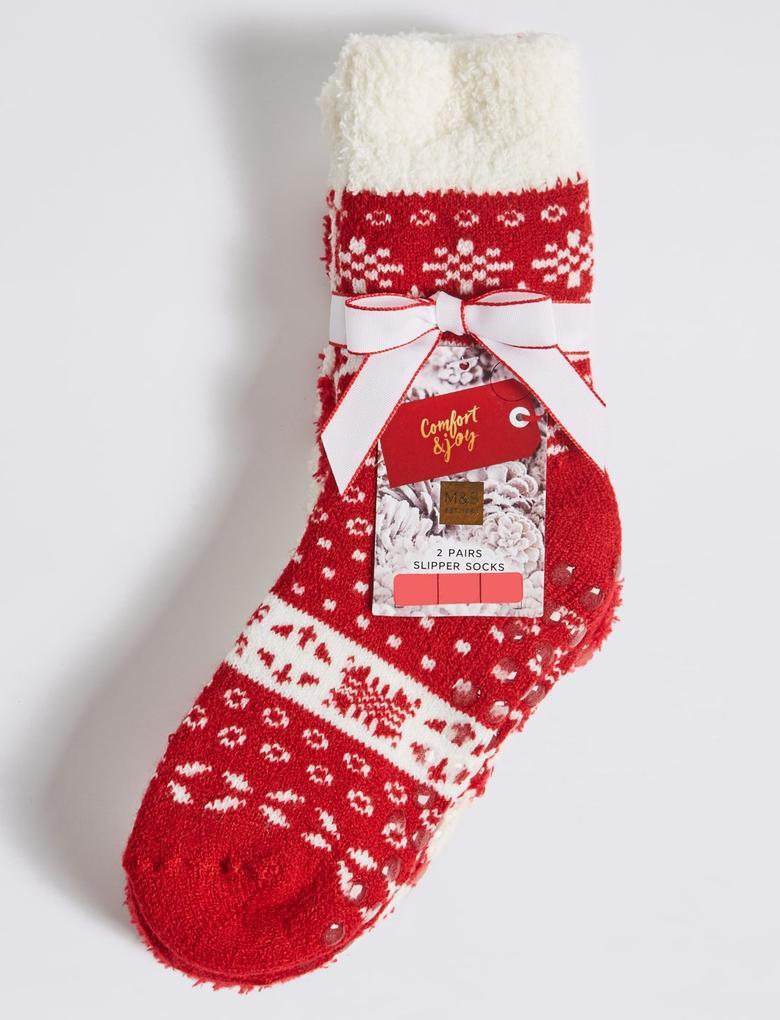 2'li Fairisle Desenli Çorap Seti (12 Ay - 14 Yaş)