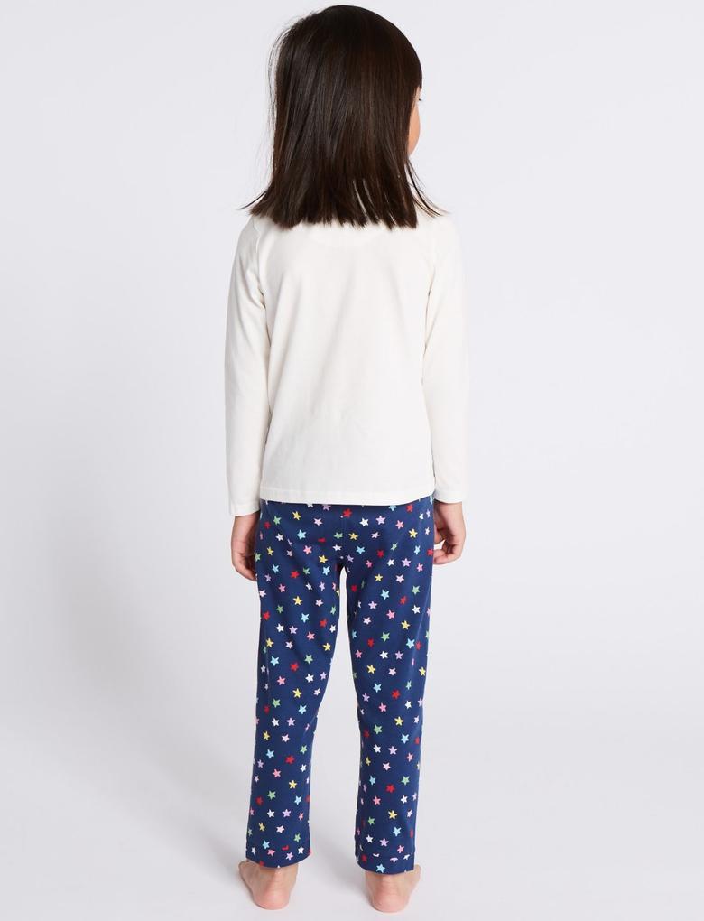 2'li Saf Pamuklu Pijama Takımı (9 Ay - 8 Yaş)