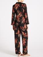Desenli Saten Pijama Takımı