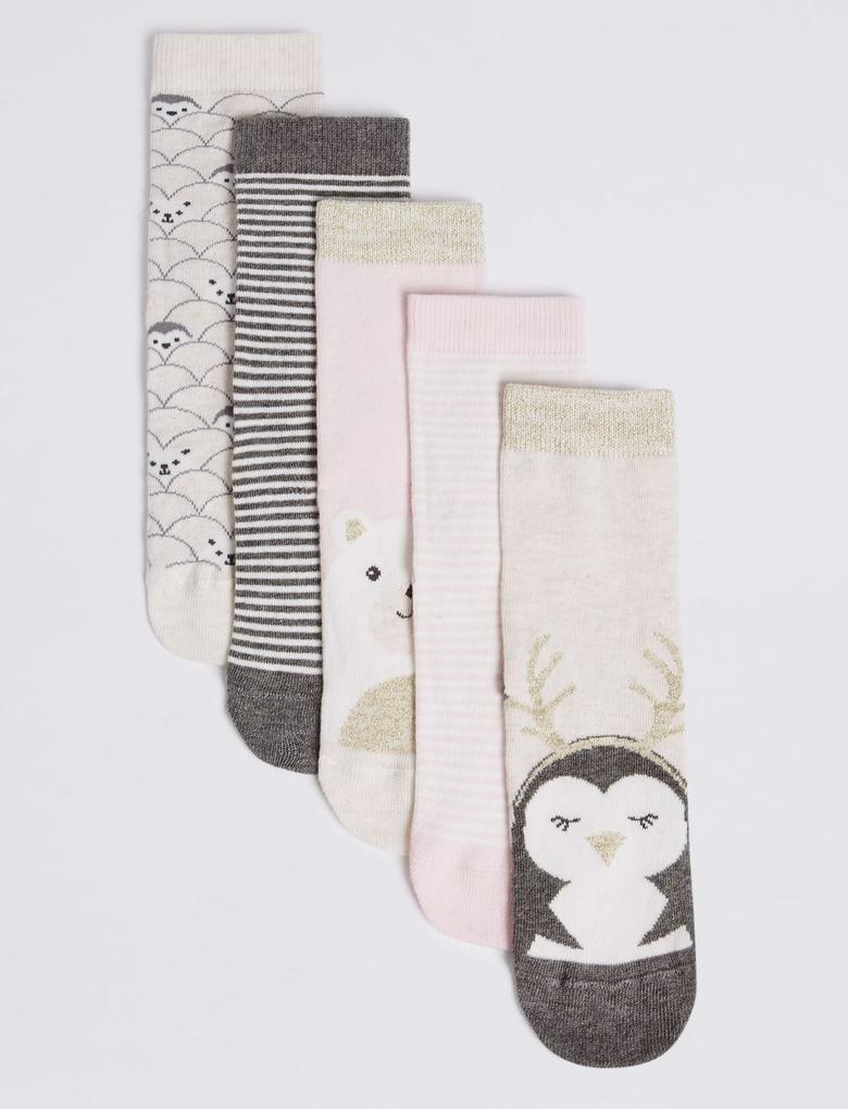 5'li Pamuklu Çorap (Freshfeet™ Teknolojisi ile)
